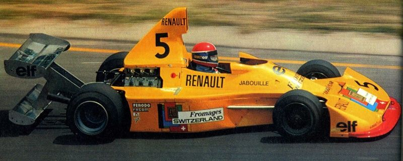 jean pierre jabouille elf 2j renault quipe elf switzerland note the double rear wing. Black Bedroom Furniture Sets. Home Design Ideas