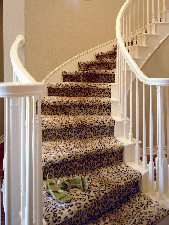 Best Leopard Print Stair Runner Design Pictures Remodel 400 x 300
