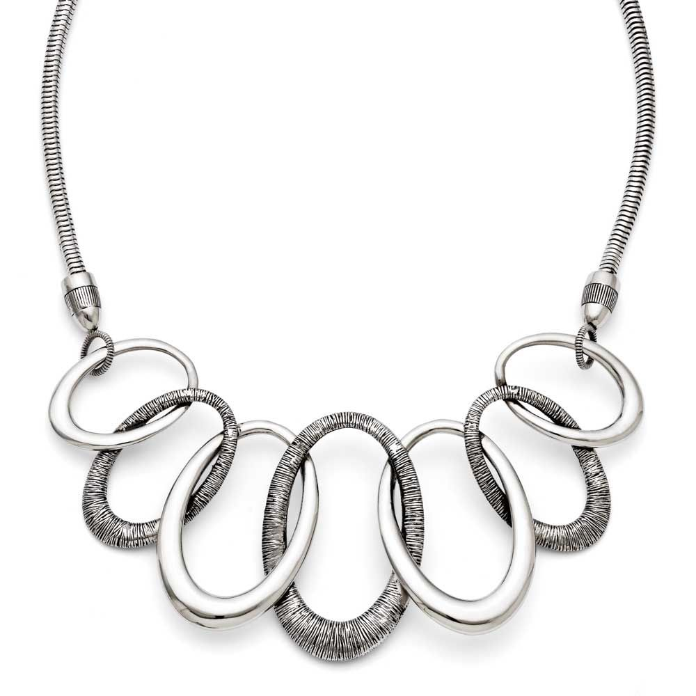 Chisel Oval Antiqued with 3.5in ext. Necklace