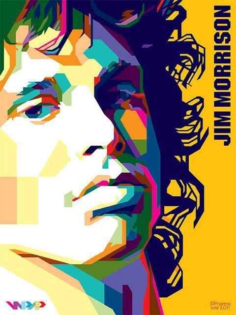 Jim Morrison Pop Art Portraits Art Album Wpap Art