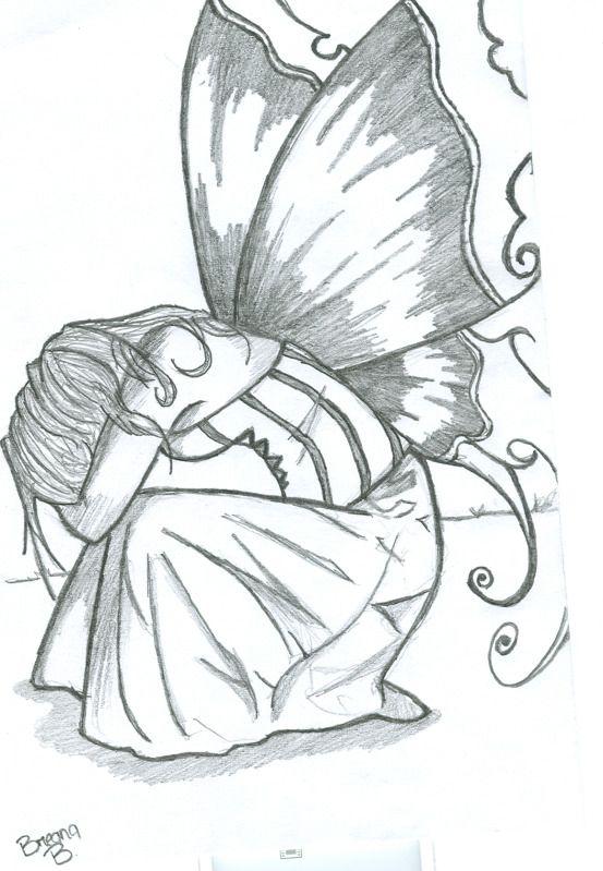Easy Pencil Sketches Of Fairy