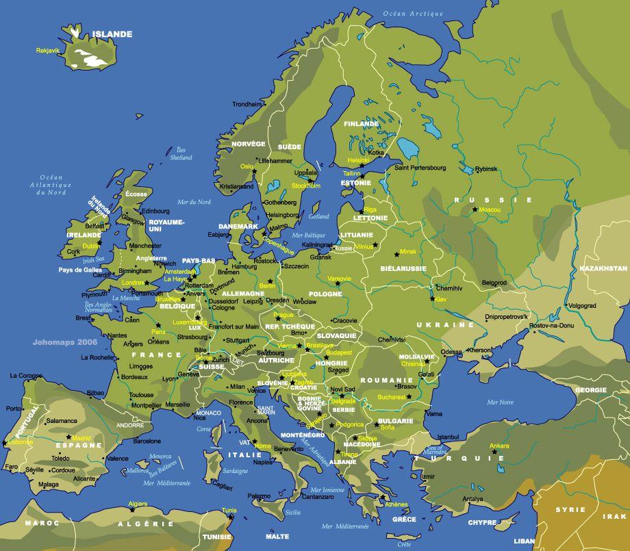 carte d'Europe | français | ...