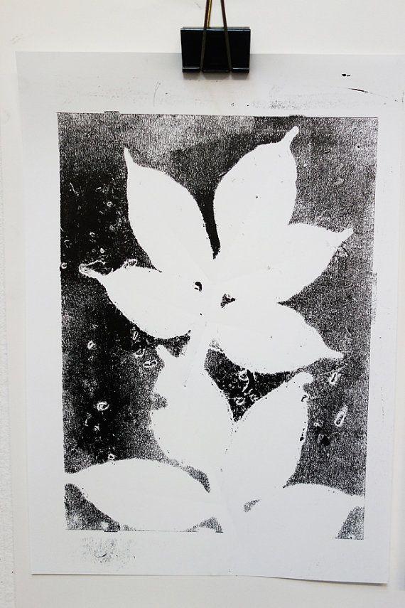 Zwart wit poster voor aan de muur van bloomandtypo op etsy