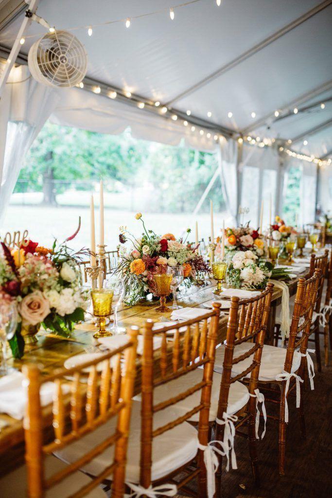 Romantic Tented Ridgeland Mansion Wedding White tent