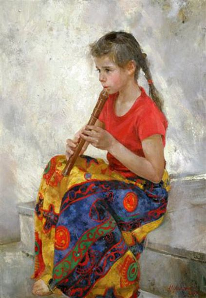 Natasha Milashevich ~ the flute player