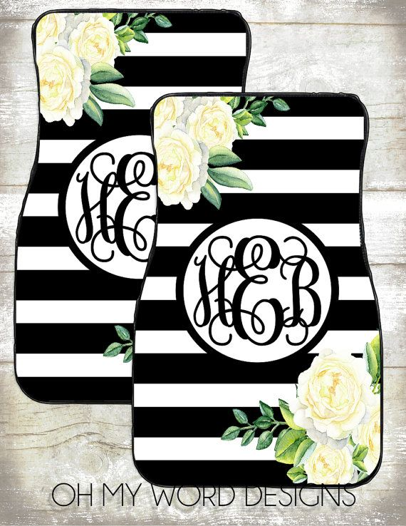 Monogram Car Mats Car Accessories Car By Ohmyworddesigns On Etsy