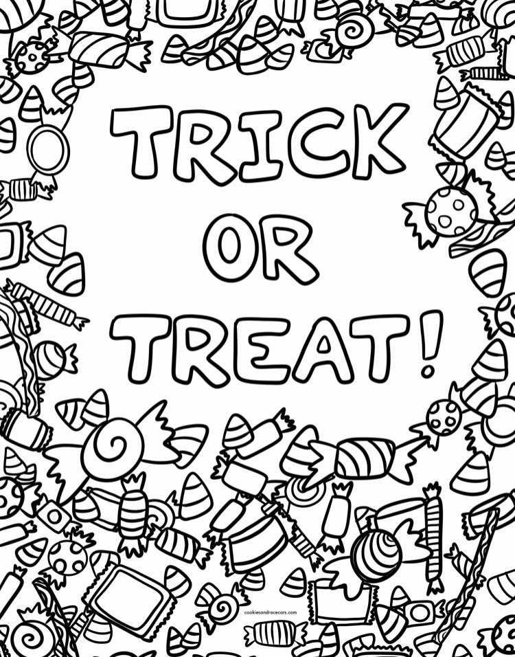 Halloween Coloring Pages Cookies Racecars Halloween Coloring Pages Halloween Coloring Quote Coloring Pages