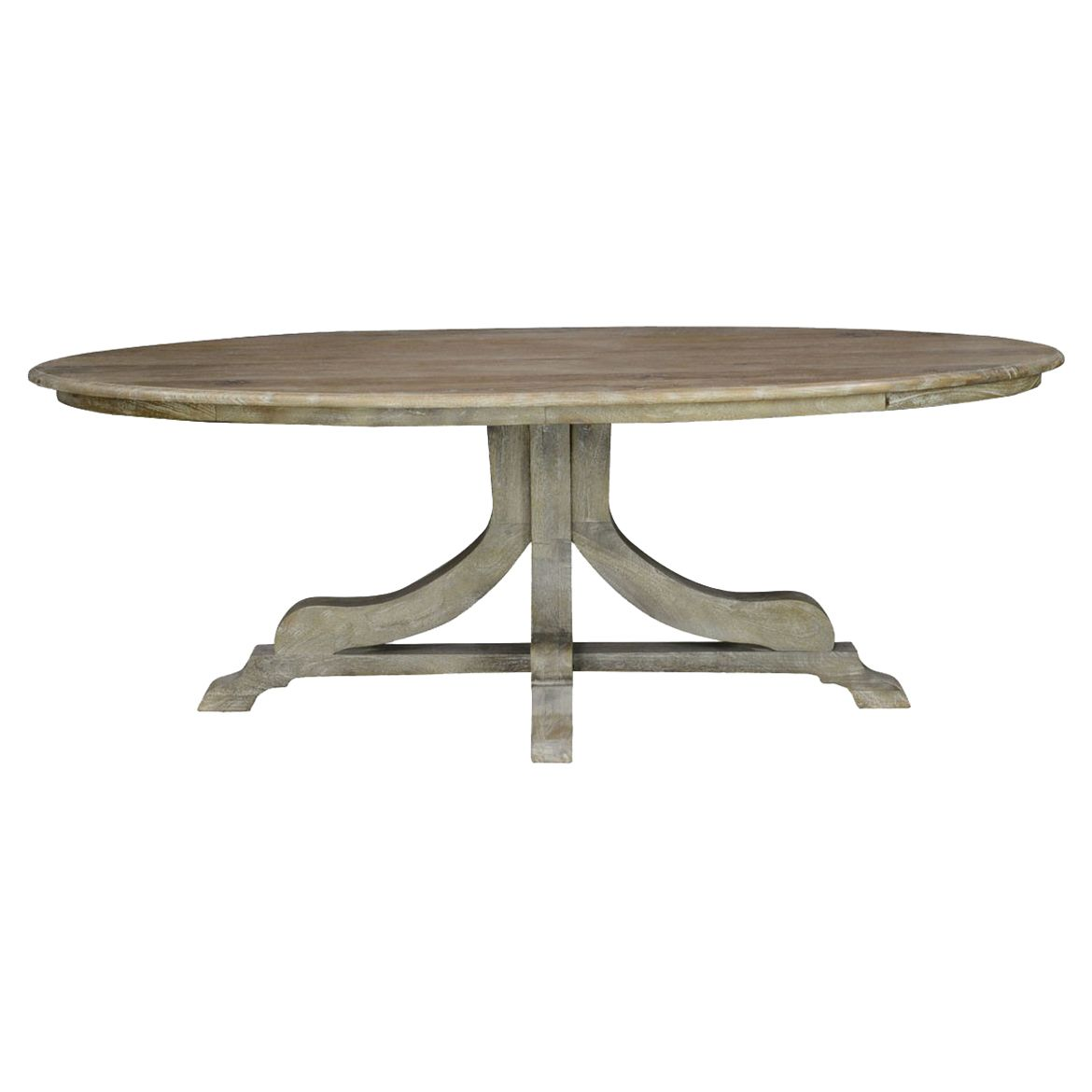 Ollie Rustic Lodge Distressed Grey Wood Pedestal Oval Dining Table In 2021 Oval Table Dining Dining Table Oval Dining Room Table