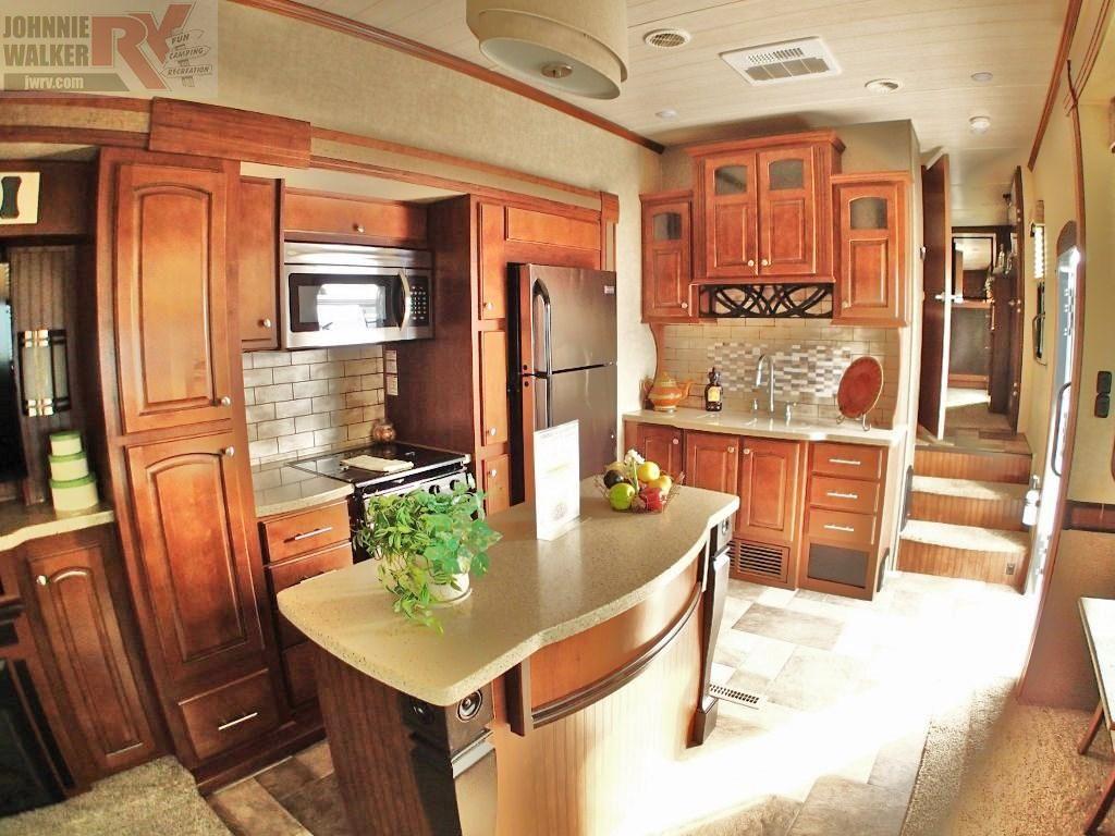 2016 Heartland Oakmont 345RS | Kitchen cabinets, Home ...