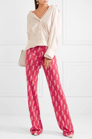 718b151869ce0 Miu Miu - Jacquard-knit wool-blend flared pants   Products   Knit ...
