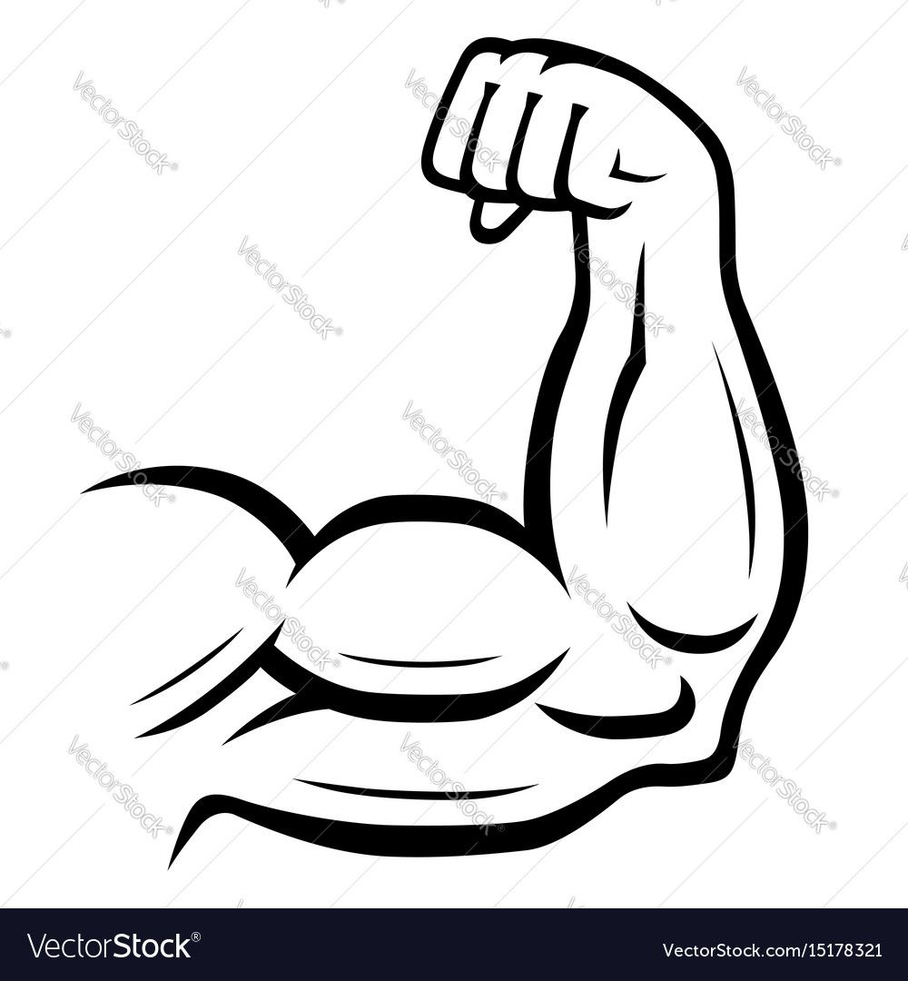 Strong Arm Icon Fitness Bodybuilding Concept Vector Image Ad Icon Fitness Strong Arm Ad Circle Infographic Infographic Design Template Vector Free