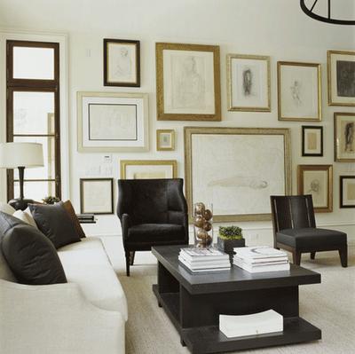 Love the wall arrangement