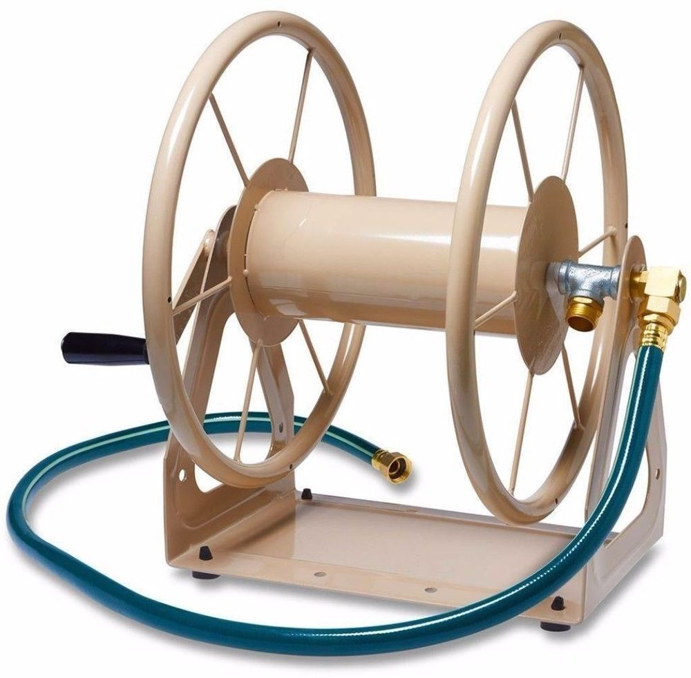 Heavy Duty 200 ft. 3in1 Hose Reel with 5 Ft. Inlet Hose