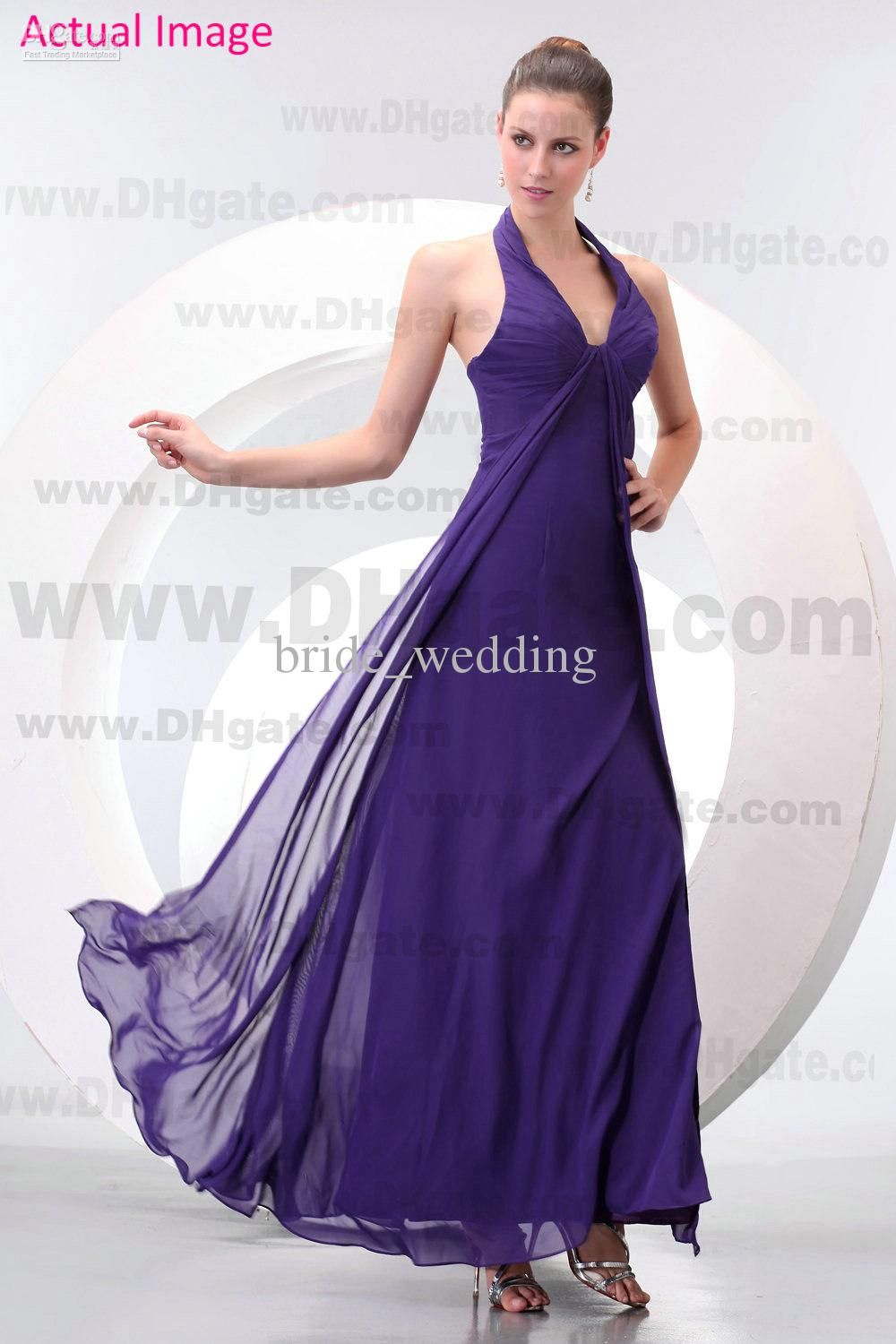 Purple Dark chiffon bridesmaid dresses forecasting to wear for spring in 2019