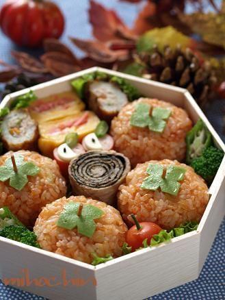 Persimmon onigiri