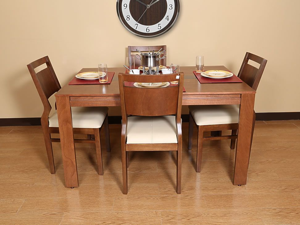 Mesa antecomedor rectangular contempor nea tabaco madison for Remates uruguay muebles