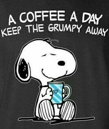 Two coffees a day. | Coffee -- Liquid Sanity | Snoopy, Peanuts ... #coffeeTime