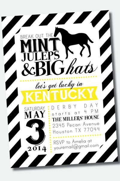 Throw a Down and Derby Bachelorette Party Kentucky derby