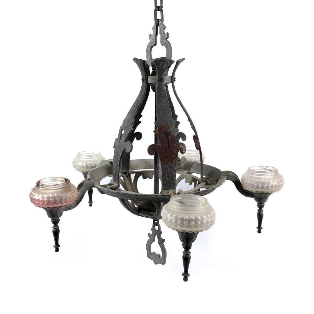 Rustic cast metal hanging chandelier candle lamp 5 arm ceiling rustic cast metal hanging chandelier candle lamp 5 arm ceiling fixture arubaitofo Images