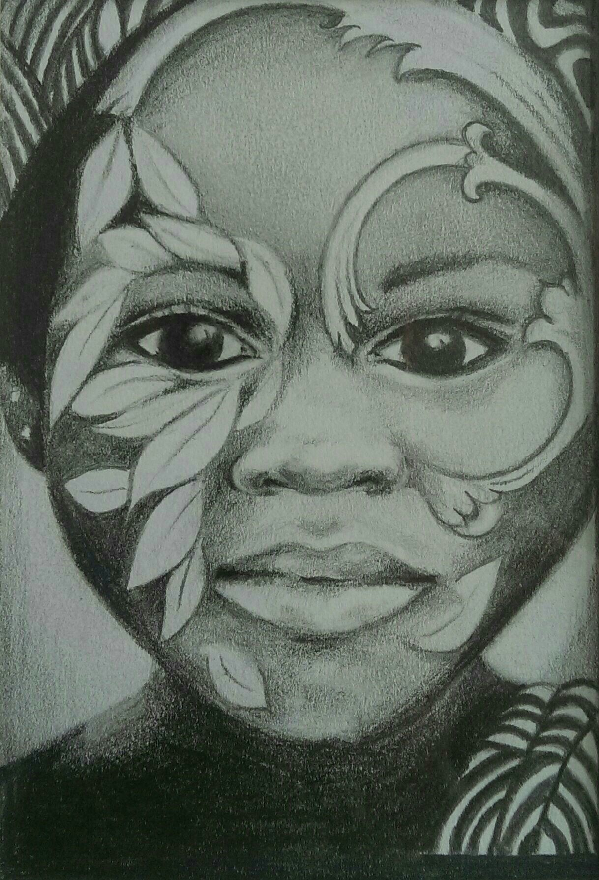 Festival graphite pencil drawing