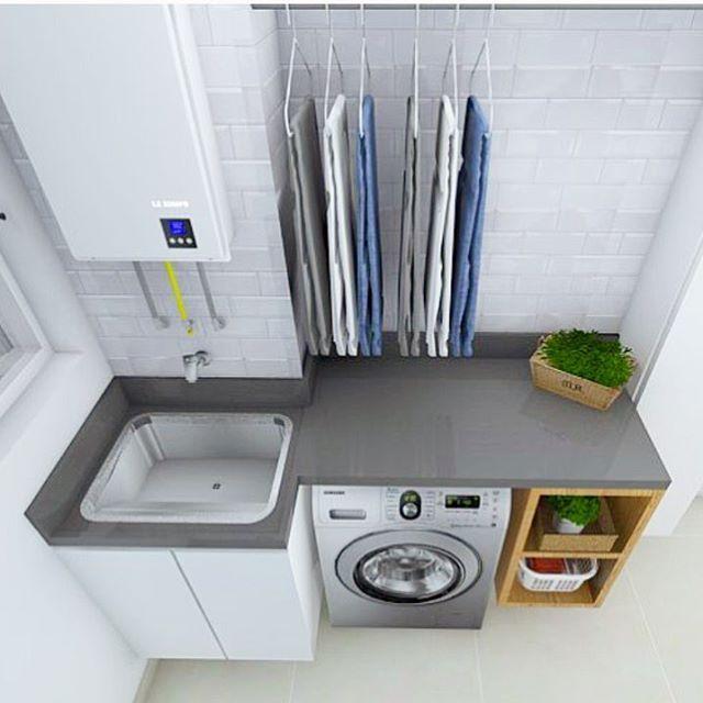 Pin By Nina Pereira On Cozinhas: 45 áreas De Serviço Pequenas E Arrumadinhas Para Se Inspirar