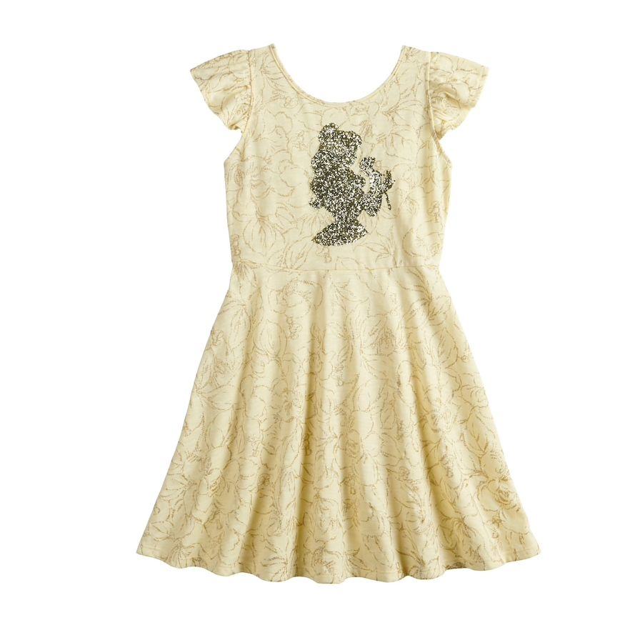 Disney S Beauty And The Beast Belle Girls 4 12 Printed Dress By