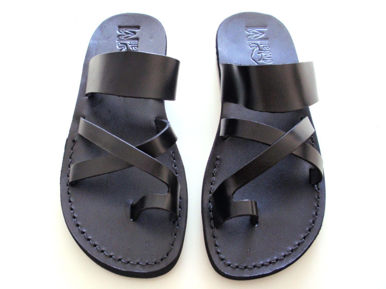 b2d570965840d6 Leather Sandals ROMAN Men s Shoes Jesus Jerusalem Strappy Thongs Flip Flops  Flats Slides Slippers Biblical Colored Footwear Fisherman by Sandalimshop  on ...