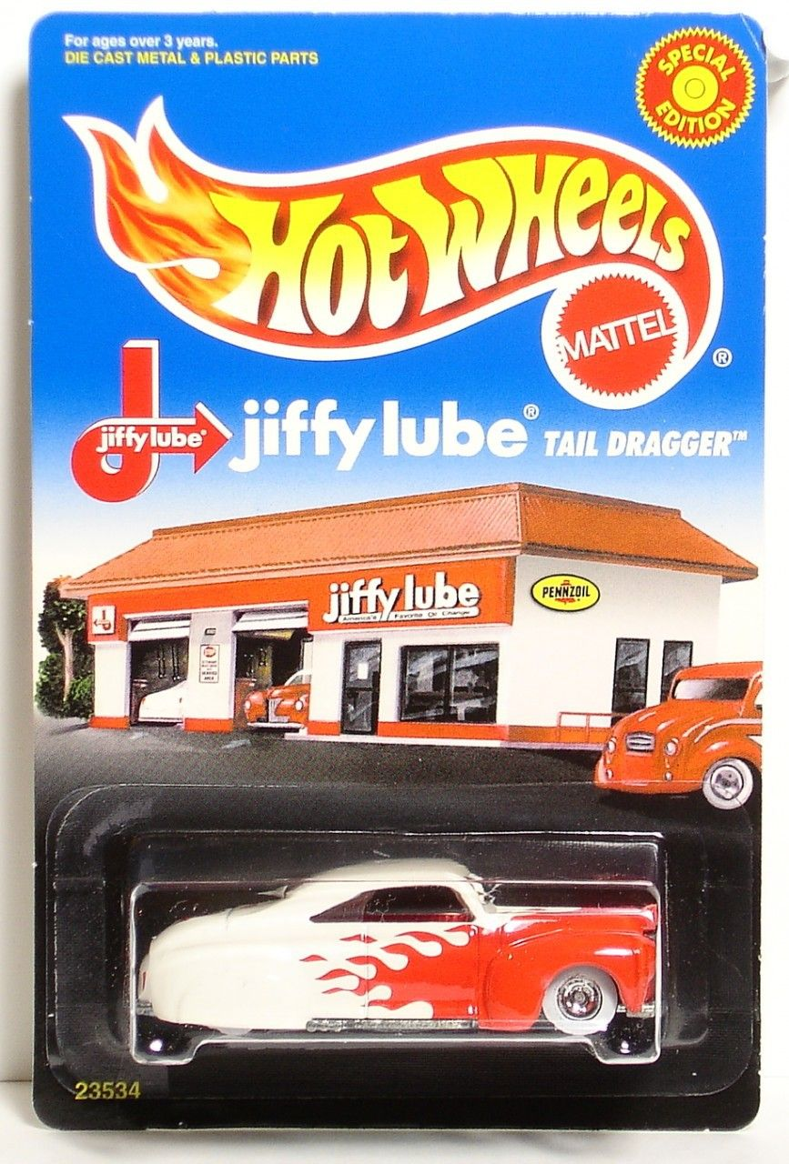 Lowrider car toys  Jiffy Lube Exclusive Limited Edition Hot Wheels Tail draggerDamaged