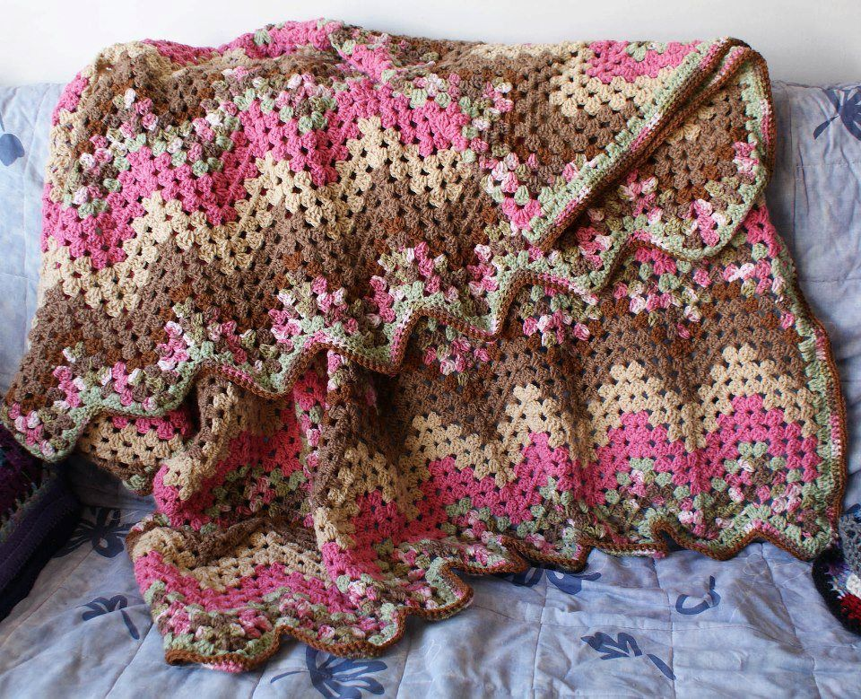 Neopolitan color granny ripple afghan Change the colors, here is the ...