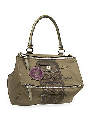 81addb1e501232 Givenchy Pandora Medium Dollar-Print Canvas Shoulder Bag - Green ...
