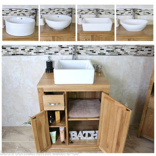 Bathroom-Vanity-Unit-Oak-Cabinet-Furniture-Wash-Stand-White-Ceramic-Basin-503