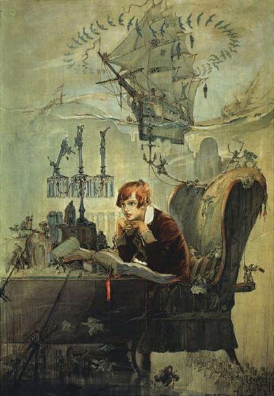 John R Neill's illustration for Boy From Treasure Island, 1914