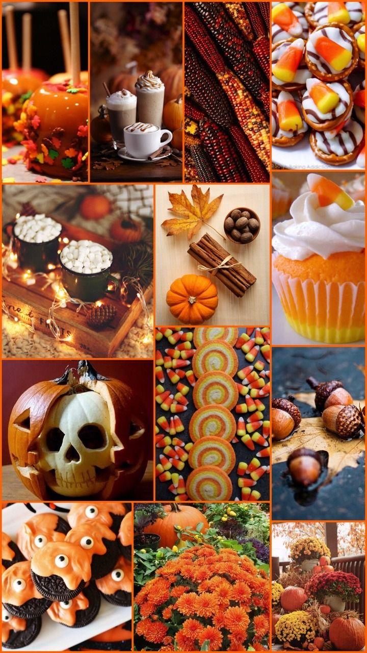 Autumn Halloween Collage Wallpaper Wallpaper Halloween Wallpaper Beautiful Collage Fall Wallpaper