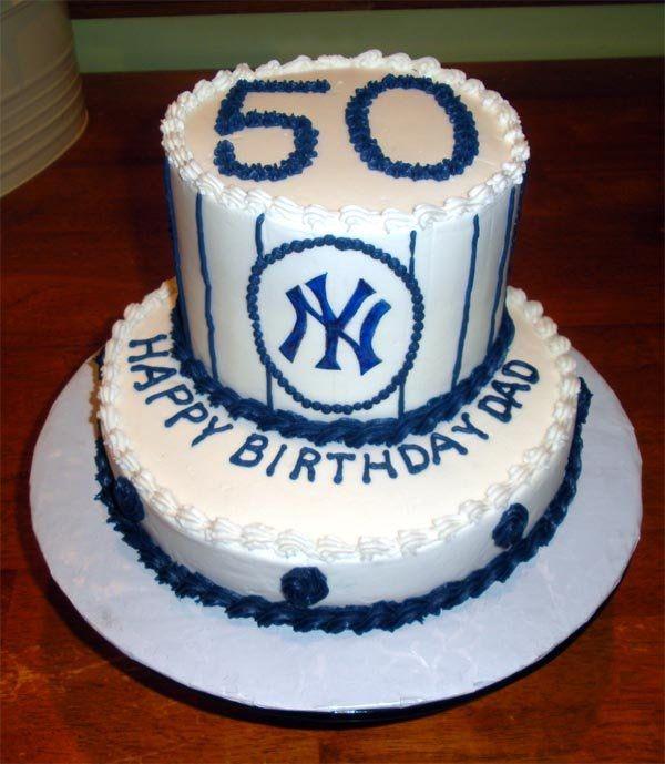 50th+birthday+baseball+cake