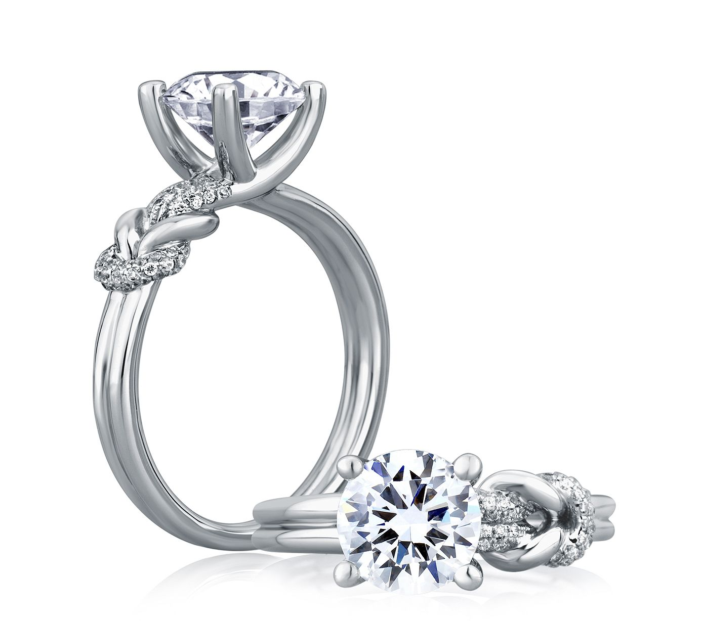 A. JAFFE's ME1627 Knot Engagement Ring! | ♥ Engagement ...