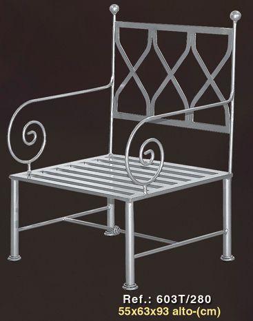 Silla de forja modelo 603t pinteres for Modelos de sillas de hierro