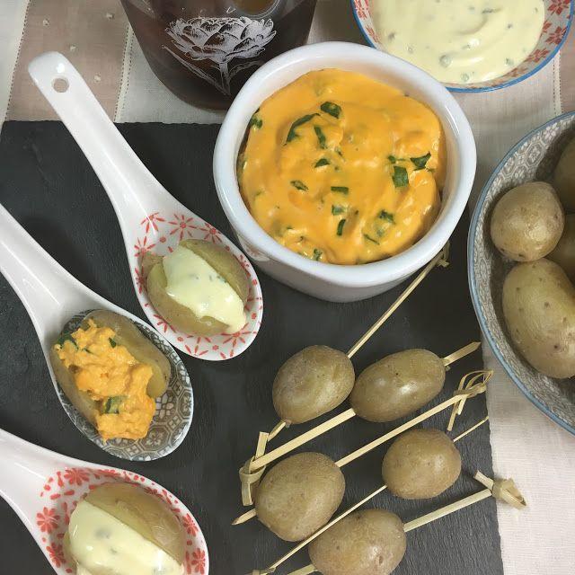 Las Recetas De Martuka Patatitas Con Dos Salsas Mayonesa