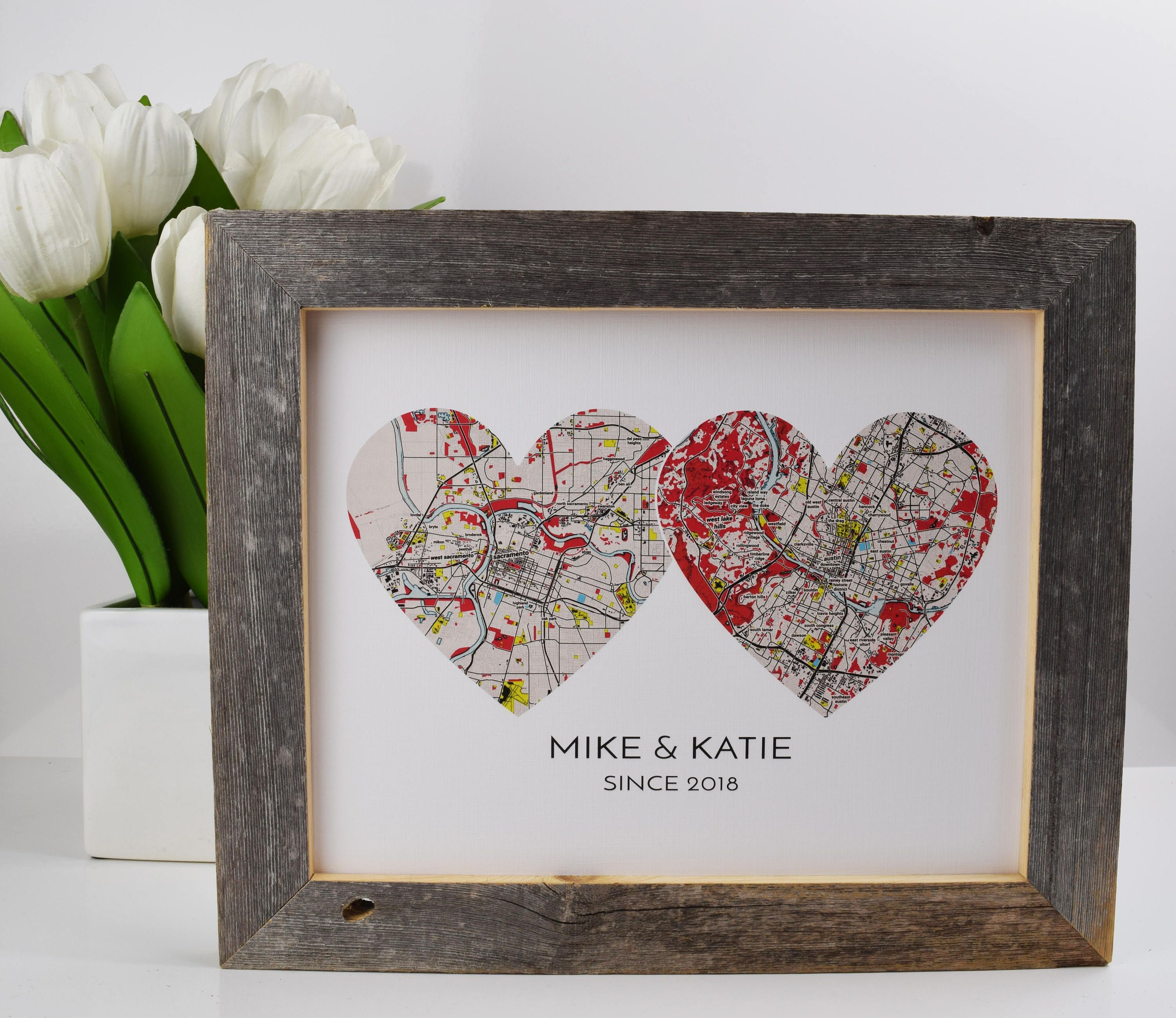 Long Distance Boyfriend Gift Personalized Anniversary Gift