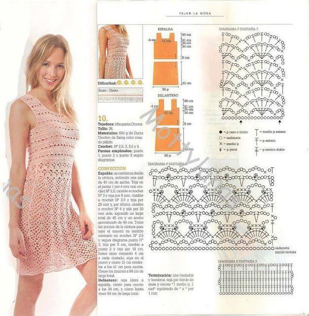 crochet dress diagram | Crochet garments | Pinterest | Vestidos ...