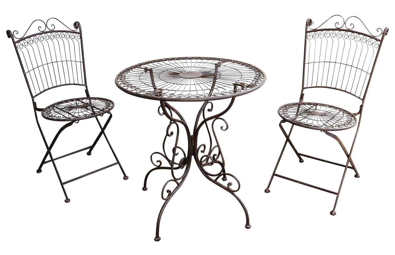 Gartenmobel Garnitur Tisch 2x Stuhl Garten Gartengarnitur Antik