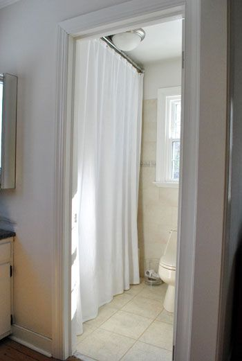 I Like The Idea Of Hanging Your Bath Shower Curtain Rod Higher And Getting Longer Curtains Helps Make Room Look Taller