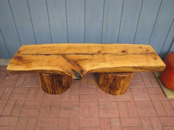 One Of A Kind Hand Carved Bench For Exterior Or Interior Nature Lovers  Seating.