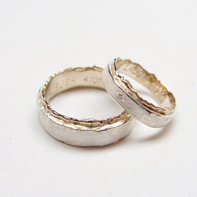 Beeld Van Wedding Rings Silver Whitegold Wedding Rings For Women Offer A Classic Ro In 2020 Silver Wedding Rings Rose Gold Wedding Band Diamond Gemstones Jewelry Rings
