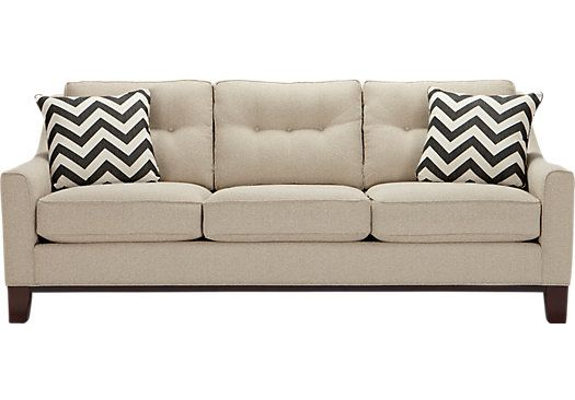 Cindy Crawford Home Hadly Beige Sofa