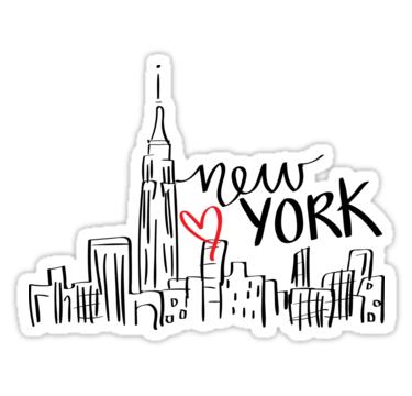 New York City Sticker By Amandaspac Printable Stickers Tumblr Stickers Hydroflask Stickers