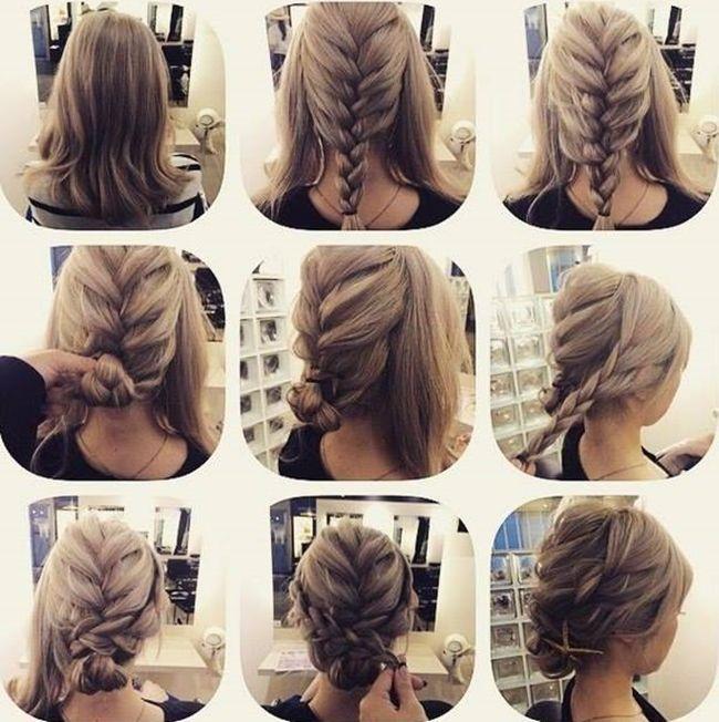 Amint az alábbi - a frizura készítés folyamatát lépésről-lépésre bemutató  képekből kiderül - 31364dceed