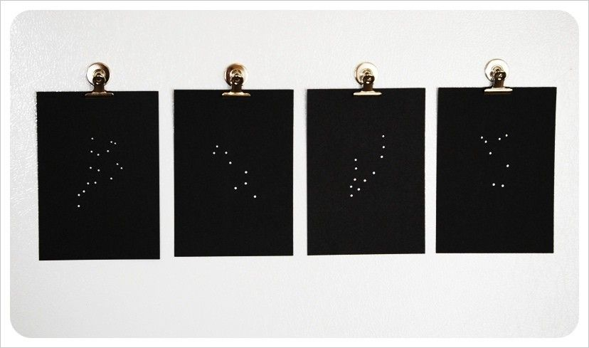 Constellation Papercuts by monpetitfantome on Etsy, $13.00