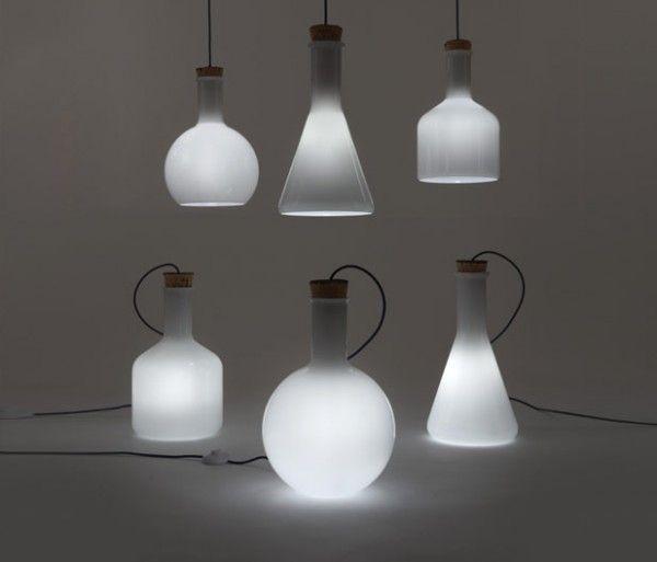 DIY Chemistry Lab Bottle Lighting Very cool  Extraordinary