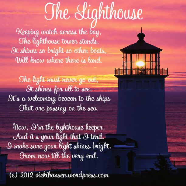 Lighthouse Poem Google Search Lighthouse Quotes Funeral Quotes Candle On The Water