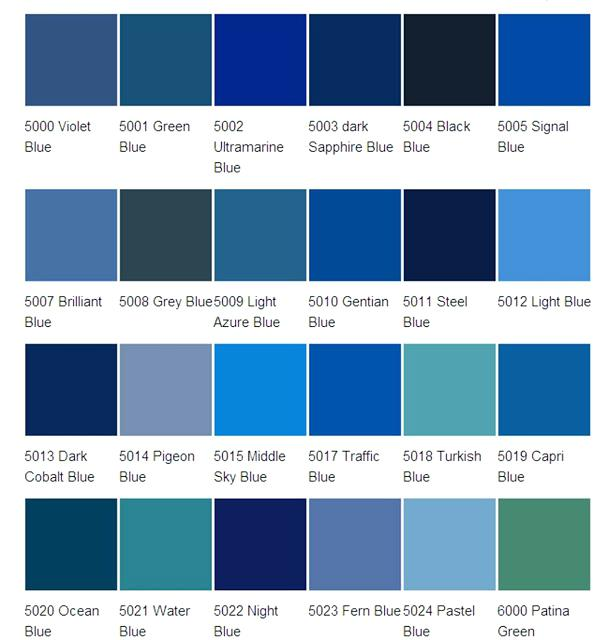 Shades Of Blue Paint Blue Color Schemes Different Colors Of Blue